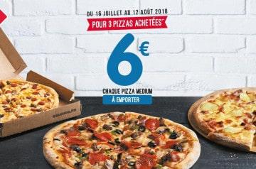 Domino's Pizza : 6 € la pizza pour 3 medium achetées