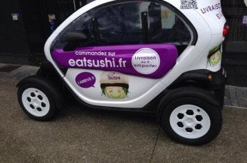 Eat Sushi Brest livre en Twizy