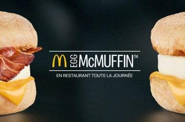 Egg McMuffin™ arrive dans les McDonald's