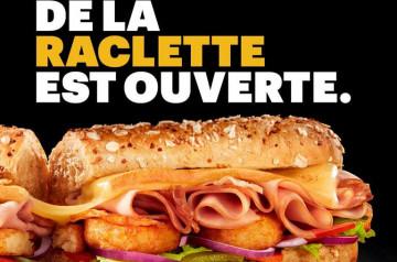 Je veux une Sub Raclette de Subway un point c'est tout