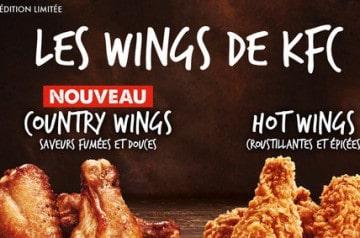 KFC propose des ailes de poulet à la recette inédite