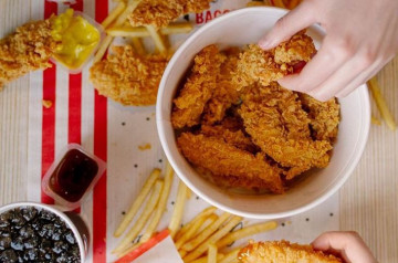 KFC Russie sert du poulet végétarien