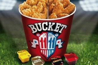 KFC sort Bucket 11/11 pour suivre l'Euro 2012