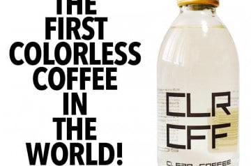 L'invention du café transparent, sacrilège ou idée de génie