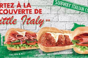 L'Italian Connection chez Subway en ce moment