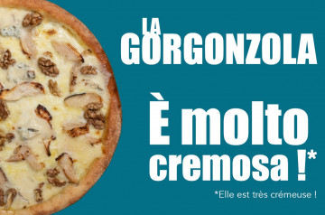 La boîte à pizza : quand le gorgonzola mène la danse