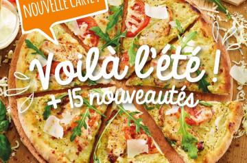 La carte d'été 2020 de Pizza Paï