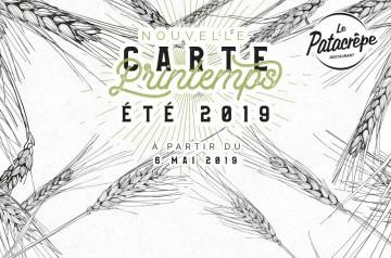 La carte printemps-été 2019 du Patacrêpe