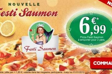 La Festi Saumon chez Domino's Pizza
