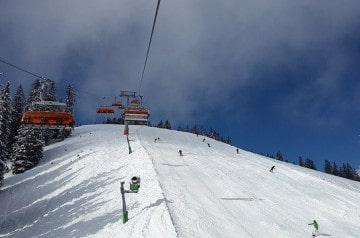 La livraison de repas sur les pistes de ski