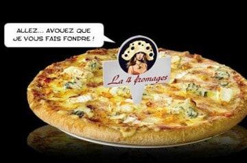 La pizza 4 fromages en restauration rapide