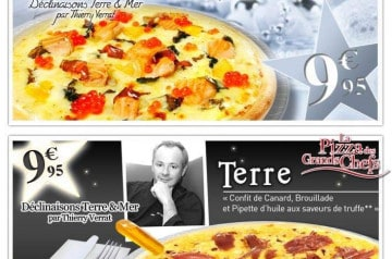 La pizza des grands chefs