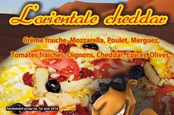 La pizza L'Orientale Cheddar Pizza Plazza