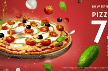 La pizza Mozza, du 100% mozza chez Tutti Pizza