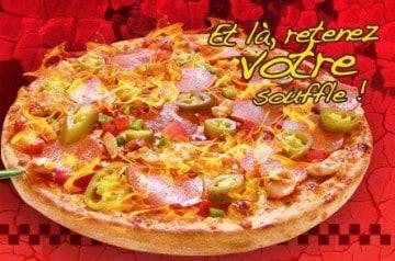 La pizza Pimento de Pizza Time