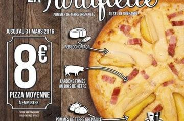 La pizza Tartiflette à l'honneur chez La Boîte à Pizza
