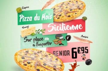La Sicilienne : la pizza de novembre de Pizza Time