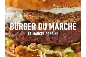 Le burger du marché de décembre de King Marcel
