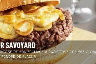 Le burger savoyard Hippopotamus