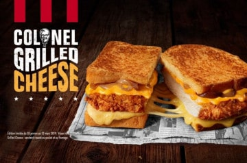 Le Colonel Grilled Cheese de KFC