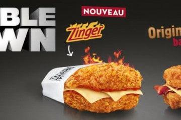 Le Double Down est de retour chez KFC