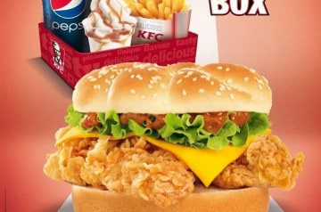 Le Double Krunch en fête chez KFC