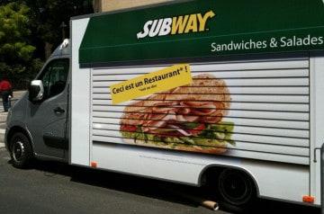 Le Food Truck de Subway