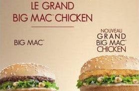 Le Grand Big Mac Chicken de Mc Donald's