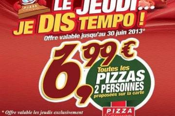 Le jeudi chez Pizza Tempo