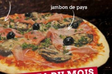 Le Kiosque à Pizzas crée une pizza aux aubergines