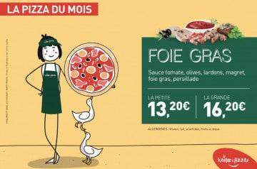 Le Kiosque à Pizzas et sa pizza au foie gras