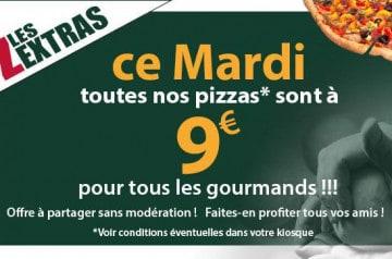 Le Kiosque à Pizzas : la pizza à 9 € le mardi