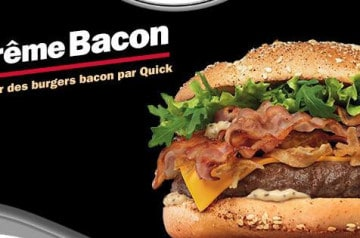 Le meilleur des burgers au bacon chez Quick