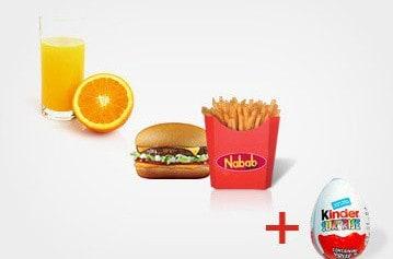 Le menu pour enfants de Nabab Kebab