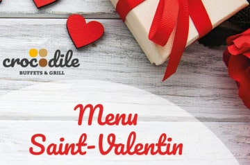 Le Menu Saint-Valentin des restaurants Crocodile