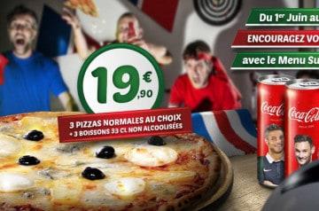 Le Menu Supporter chez Tutti Pizza jusqu'au 17 juillet