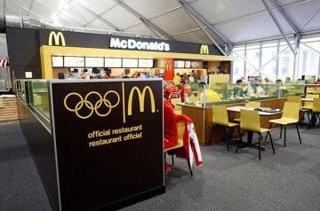 Le programme olympique TOP et Mc Donald's