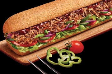 Le sandwich au porc braisé de Subway