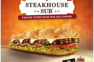 Le Steakhouse SUB de Subway