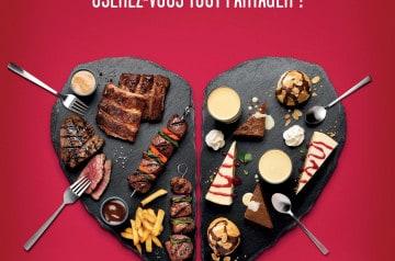 Les assiettes de la Saint-Valentin au Buffalo Grill