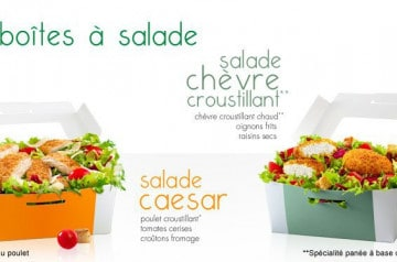 Les boîtes à salade Mc Donald's