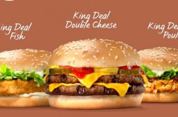 Les deals ou bons plans de Burger King