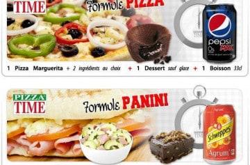 Les formules Midi Pizza Time