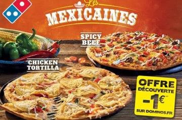 Les Mexicaines, les nouvelles pizzas de Domino's Pizza