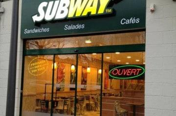 Les ouvertures Subway avril et mai