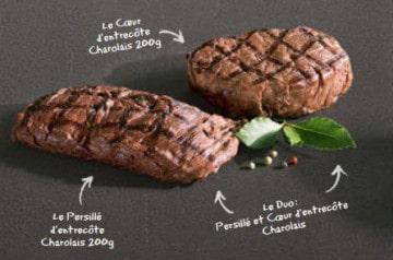 Les pièces de viande chez Hippopotamus