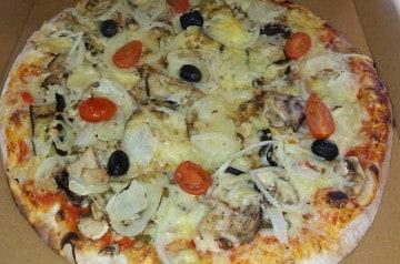 Les pizzas végétariennes de Scooter Pizz