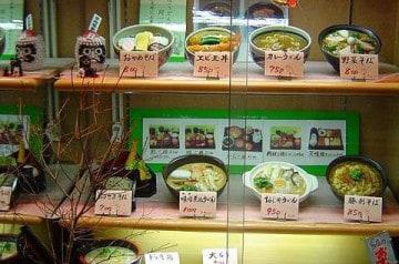 Les plats en résine des restaurants japonais