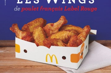 Les wings Label Rouge de retour chez Mc Donald's
