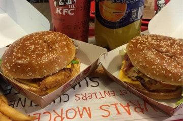 Manger un burger comme aux USA chez KFC